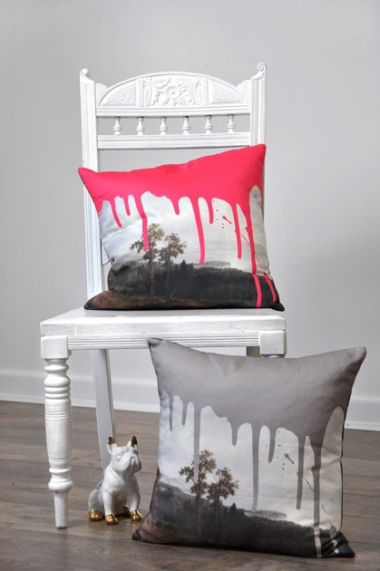 Artists Cushion Pink Or Grey