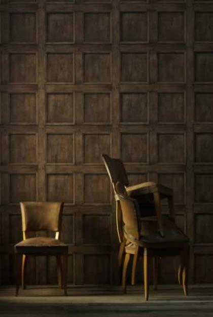regent oak wood panelling wallpaper lifestyle image