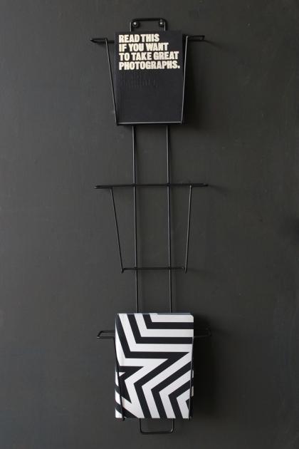 Black Wire 3 Tier Magazine Rack