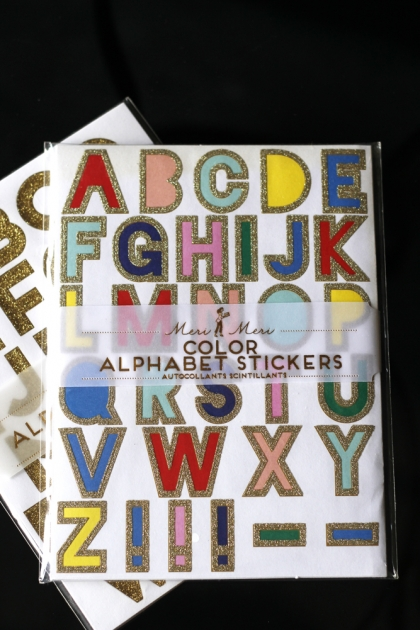 Alphabet Stickers - Colour