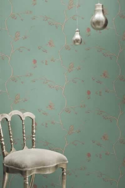 Lifestyle image of Barneby Gates Wallpaper - English Robin - Jade