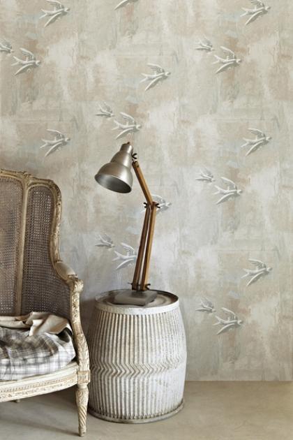Barneby Gates Fresco Birds Wallpaper