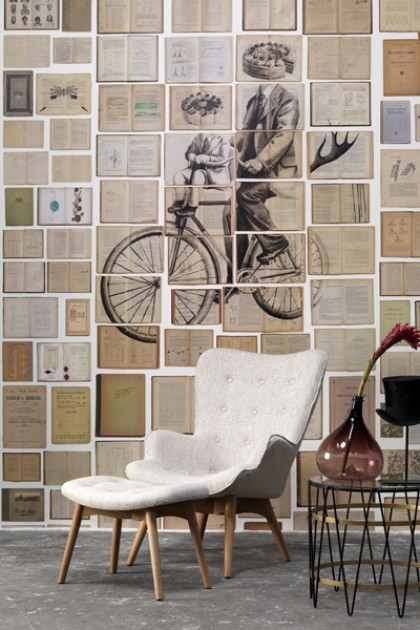 NLXL EKA-03 Biblioteca Wallpaper by Ekaterina Panikanova - Mural 3: Bicycle