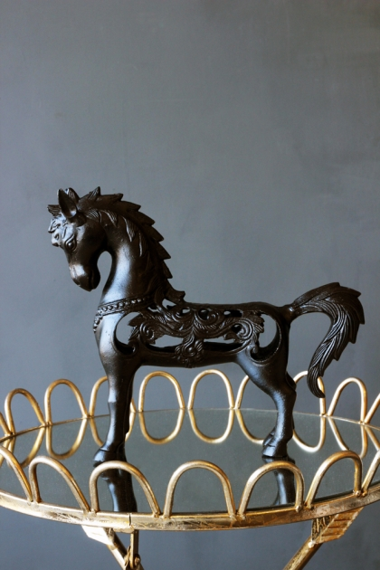 Metal Folk Horse Ornament