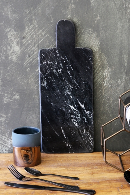 Marble Paddle Cutting/Serving Board - Black