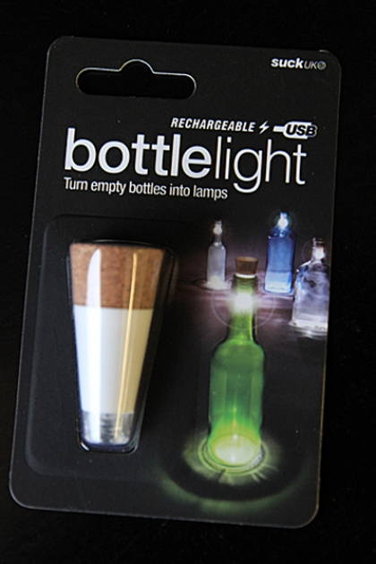 Bottle Light - A Rechargeable Light That Turns Bottles into Lamps