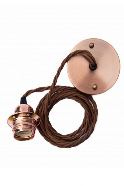 E27 Copper Flex & Fitting Set With Shade Ring