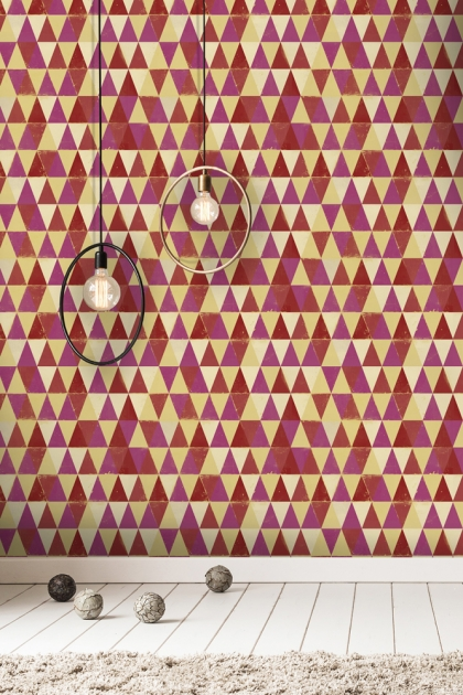 Mind The Gap Circus Pattern Wallpaper