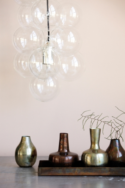 DIY Glass Bubble Pendant Ceiling Light