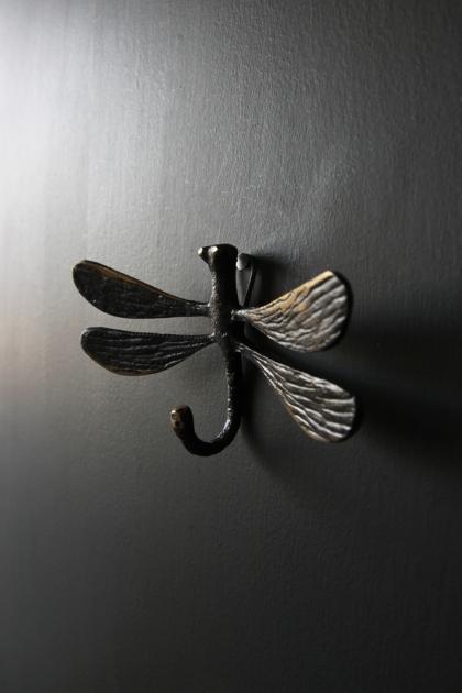 Antique Black Dragonfly Hook