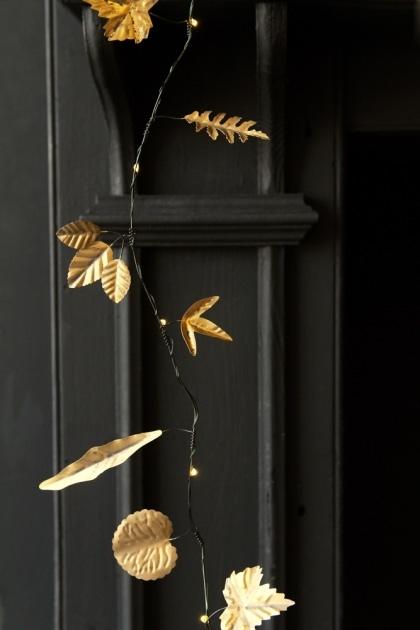Gold Metal Leaf Garland Light Chain