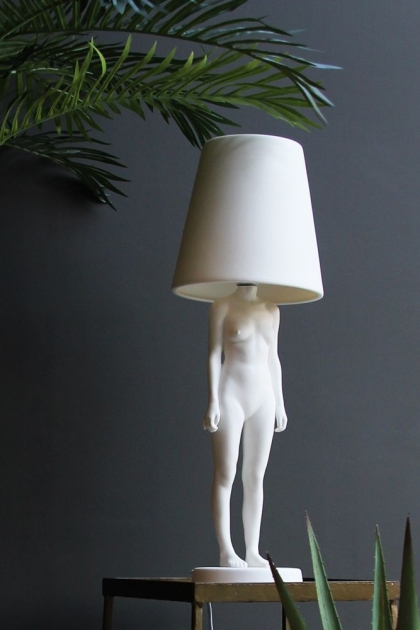 Hiding Lady Lamp