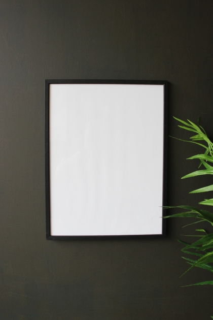 Large Black Wooden Frame - 30cm x 40cm