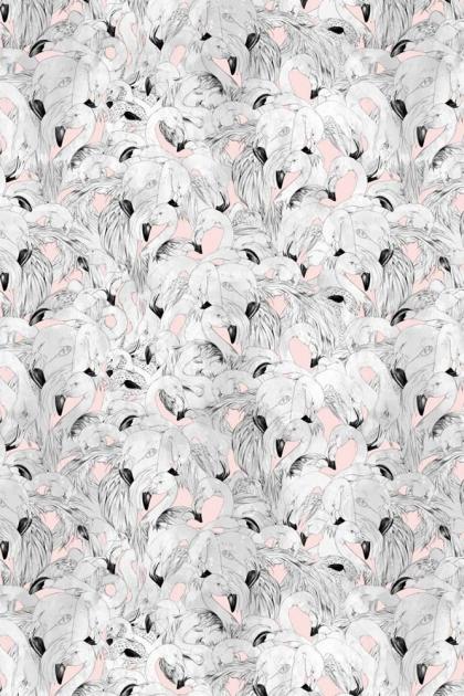 Flamingo Wallpaper - Pink