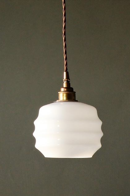 Round Deco Opal Glass Pendant Ceiling Light