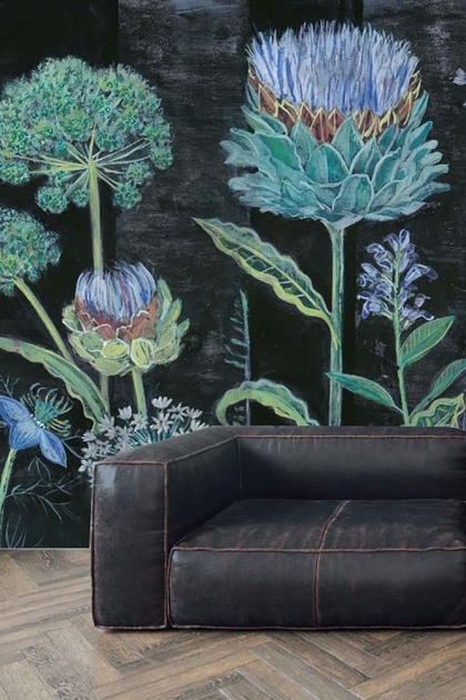 Bespoke Allium Mural Wallpaper by Lucy Tiffney