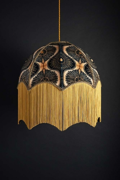 Anna Hayman Designs DecoFabulous Gold & Black Bibana Pendant Shade