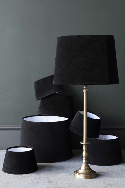 Black Noir Sumptuous Velvet Lamp Shade - Available in 3 Sizes