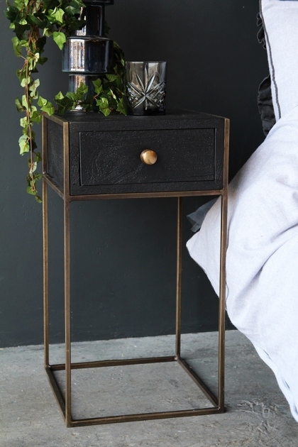 Halcyon Bedside Table With Drawer