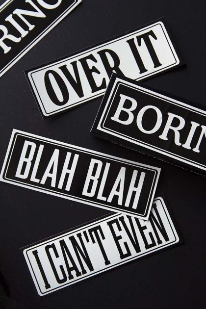 Boring Typography Stickers