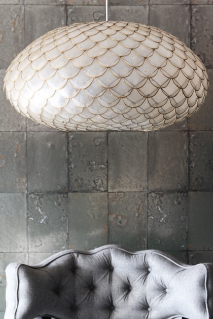 Capiz Shell Ceiling Light