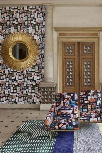 Christian Lacroix Incroyables et Merveilleuses Collection - Maison De Jeu Wallpaper - 6 Colours Available