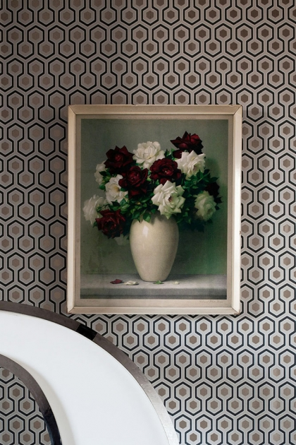 Cole & Son Contemporary Restyled - Hicks' Hexagon Wallpaper - 3 Colours Available