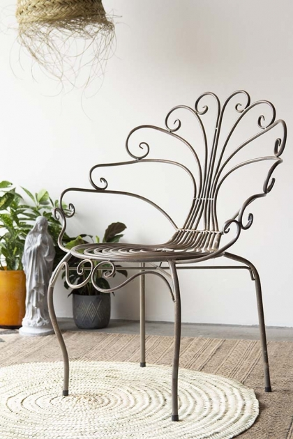 Distressed Style Metal Garden Chair