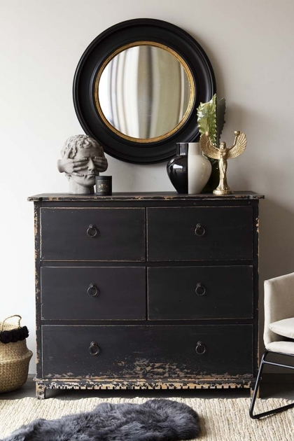 Distressed Vintage Style 5-Drawer Chest Of Drawers