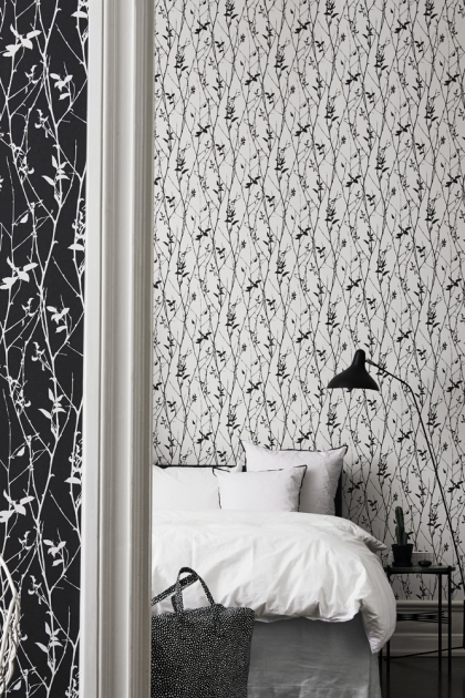 Engblad & Co Spring Tree Wallpaper - White & Black