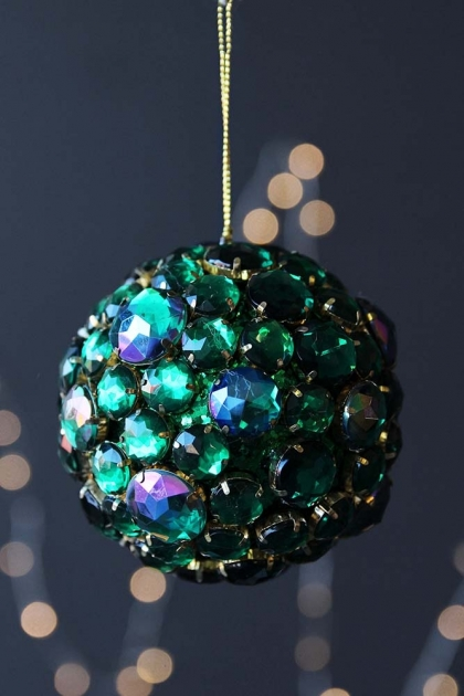 Emerald Green Jewel Bauble Hanging Decoration