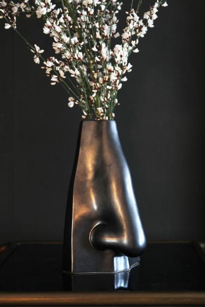 Glazed Nose Vase