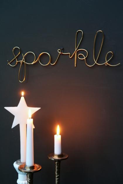 Gold Sparkle Sign
