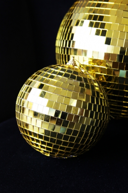 Golden Disco Ball Decoration