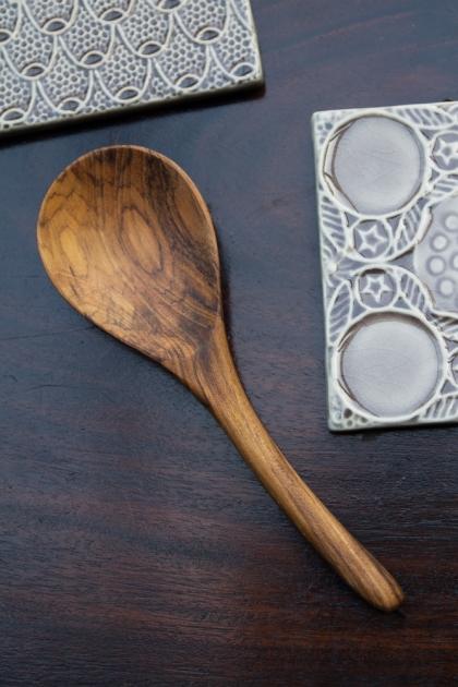 Hand Carved Teak Spoon