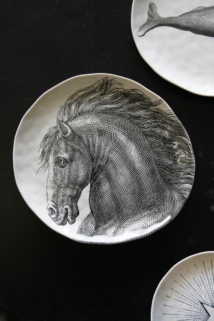 Handmade Ceramic Large Plate - Horse