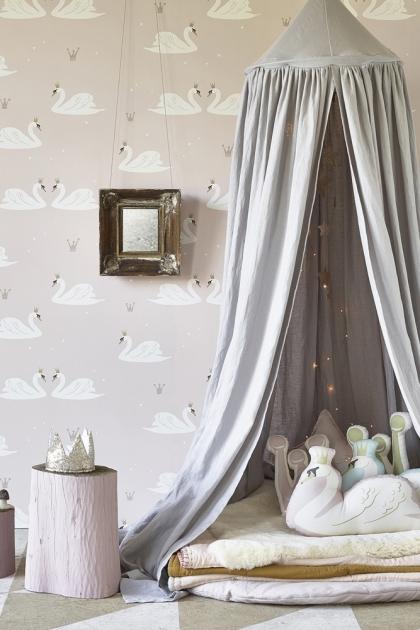 Hibou Home Swans Children's Wallpaper - 2 Colours Available