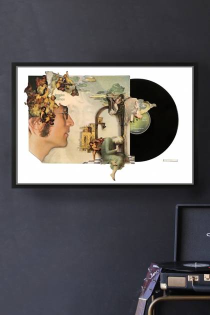 Unframed Imagine John Lennon Record Cover Collage by Alison Stockmarr