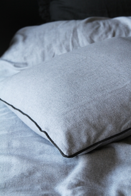 Vancouver Soft Brushed Cotton Pair Of Pillowcases - Grey/Slate