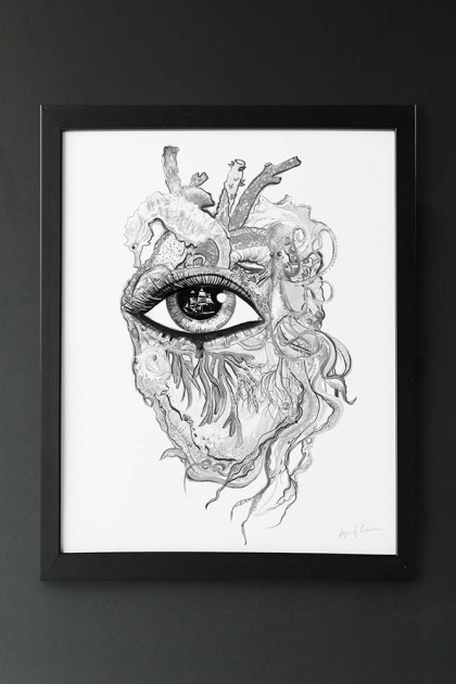 Unframed Limited Edition Sea Heart Art Print