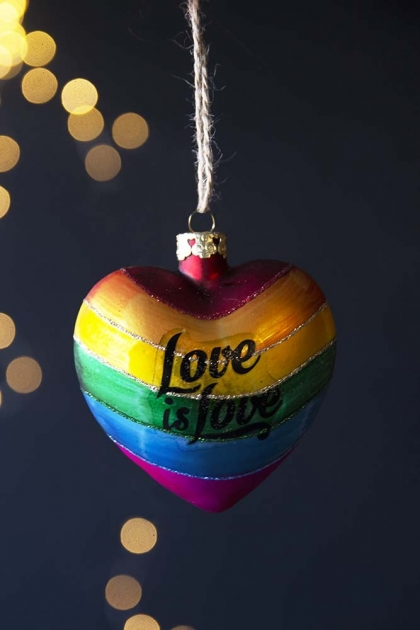 Love Is Love Rainbow Heart Hanging Decoration