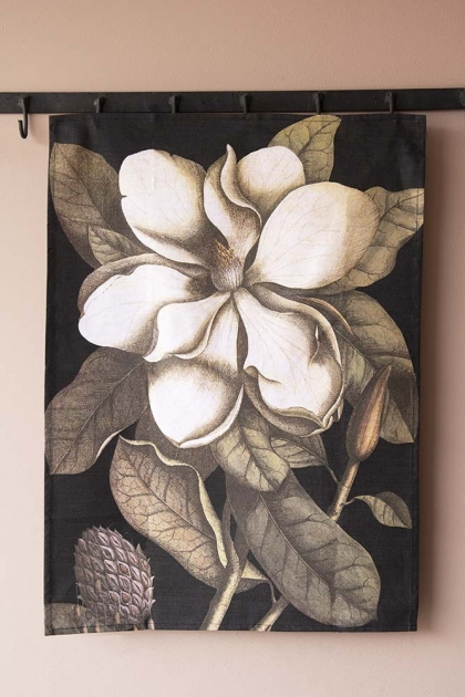 Magnolia Floral Tea Towel