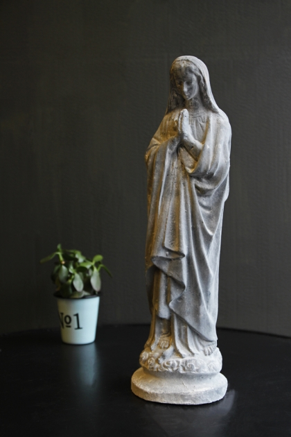 Mary Madonna Statue - Grey
