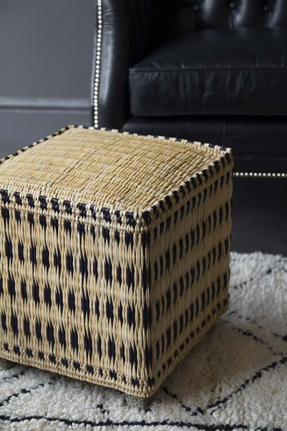 Moroccan Wicker Foot Stool