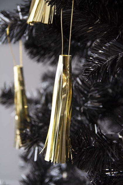 Pack Of 3 Gold Tassel Hanging Decorations