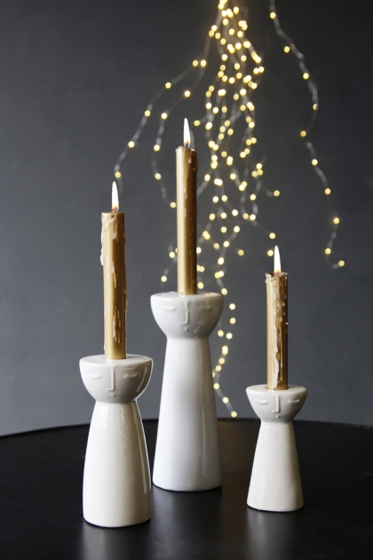 Peaceful People Candlestick Holder - Set of 3