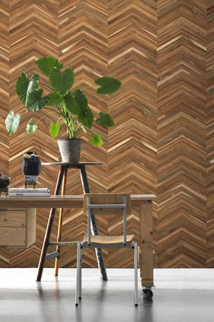 NLXL TIM-06 Timber Strips Wallpaper by Piet Hein Eek