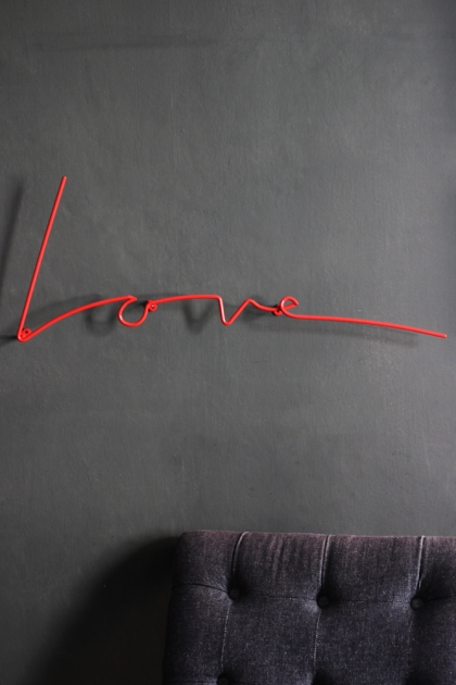 Love Wall Art / Hanger - Red