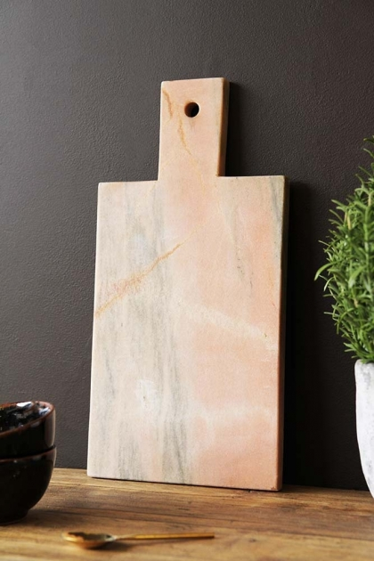 Rose Tinted Marble Paddle Chopping Board