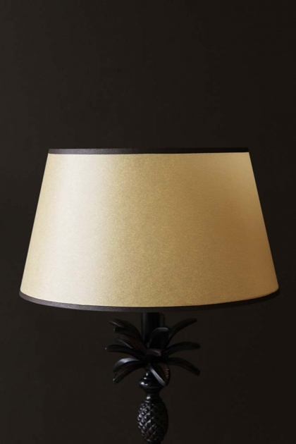 Sand Yellow Lamp Shade With Border